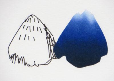 Montagnes – marqueterie papier