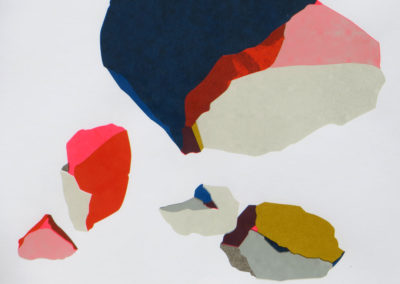 Cailloux – sérigraphie artisanale en 5 couleurs