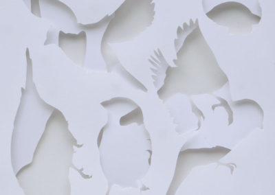 Sparrows – papier ciselé et jeu de profondeur